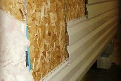 OSB Sheathing on ALL Modular and Drywall Homes. Provides a SUPER STRONG shell that reduces drywall cracks in transport.