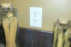 GFCI Outlets at all Wet Areas Standard.